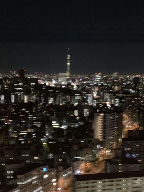 文京区シビックセンターのからの夜景