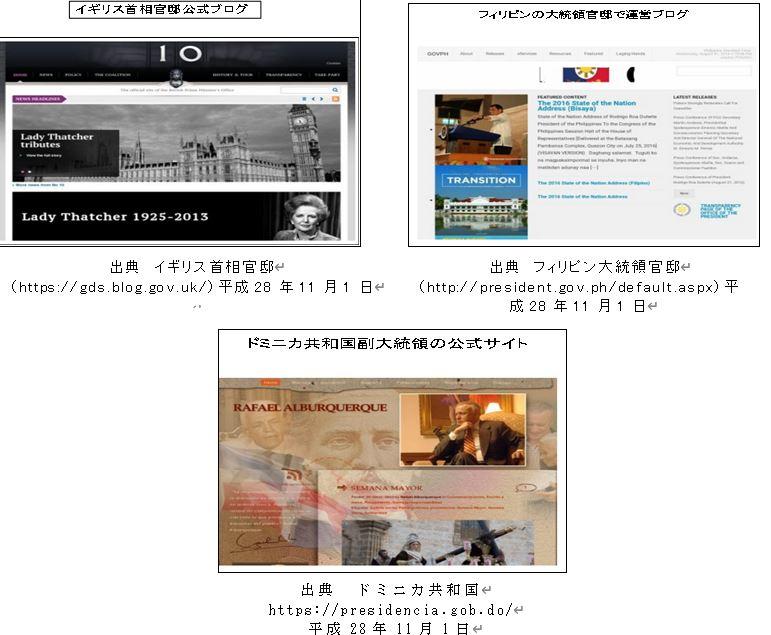 図表3-6 海外の有名政府系サイト一覧